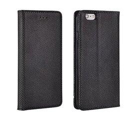 Sāniski atverams maciņš Mocco Smart Magnet Book priekš LG K350N K8, melna cena un informācija | Maciņi, somiņas | 220.lv