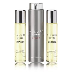 Komplekts Chanel Allure Sport Eau Extreme edp 3 x 20 ml