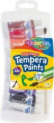 Темперная краска, 10 тонa х 10 мл, COLORINO KIDS