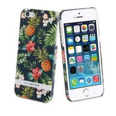 Apple iPhone 5/5S/SE apvalks Jungle Ananas + PowerBank 2600 mAh So Seven, Melns