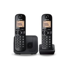 Panasonic KX-TGC212FXB Cordless phone, Black