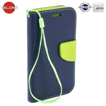 Telone Fancy Diary Bookstand Case ar stendu priekš Huawei Nova, zils/gaiši zaļš cena un informācija | Maciņi, somiņas | 220.lv
