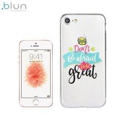 """Чехол-крышка Blun """"Don't be afraid"""" для Apple Iphone 5/5S, Прозрачный"""