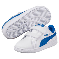 Puma sporta apavi Smash FUN L, White-Lapis Blue