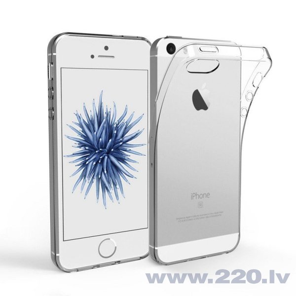 Mocco Ultra Back Case 0.3 mm silikona apvalks priekš Apple iPhone 5 / 5S / SE Caurspīdīgs