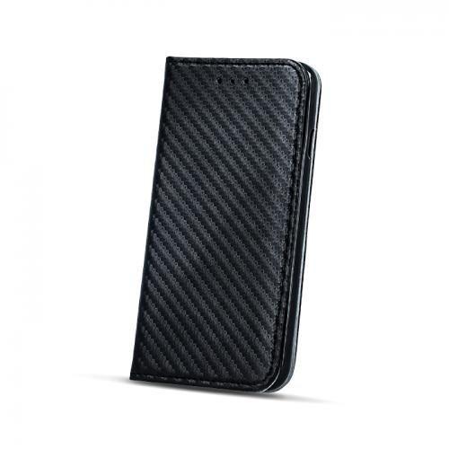 Sāniski atverams maciņš Mocco Smart Carbon Book Case priekš Huawei P10 Plus, Melns