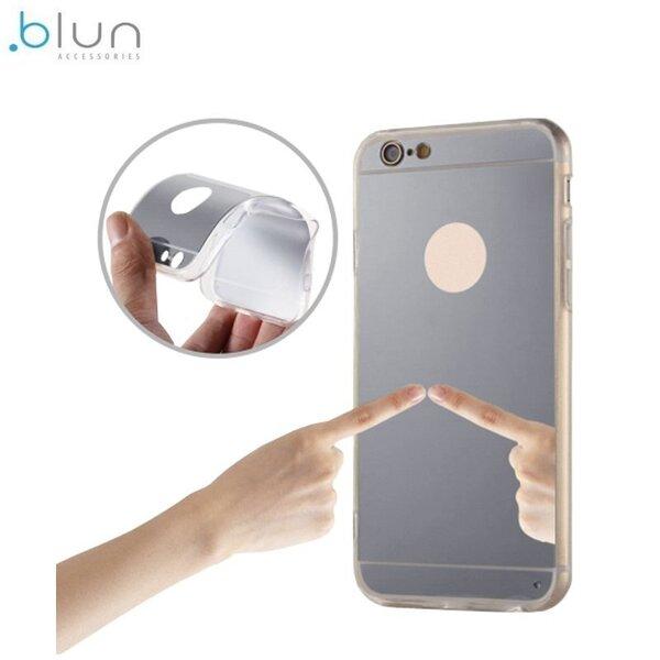Aizmugures aizsargapvalks Blun Mirror priekš Samsung J330F Galaxy J3 (2017), Sudrabains cena un informācija | Maciņi, somiņas | 220.lv