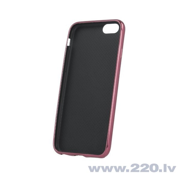 Aizmugurējais aizsargapvalks Mocco Carbon Premium Series Back Case Silicone priekš Apple iPhone 7, Rozā cena