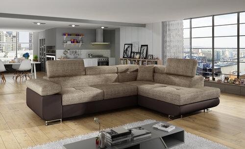 Stūra dīvāns Anton, brūns