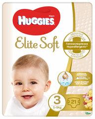 Autiņbiksītes HUGGIES Elite Soft, 3 izmērs, 21 gab. cena un informācija | Autiņbiksītes | 220.lv