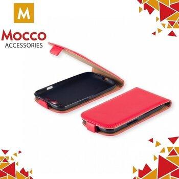 Vertikāli atverams maciņš Mocco Kabura Rubber Case priekš Huawei P8 Lite (2017), Sarkans cena un informācija | Maciņi, somiņas | 220.lv