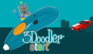 Smart 3D zīmulis 3DOODLER - START MEGA PACK, zils