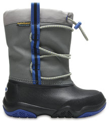 Zābaki Crocs™ Swiftwater Waterproof Boot, Black / Blue Jean