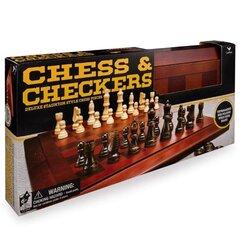 Koka komplekts: šahs un dambrete CARDINAL GAMES, 6033151