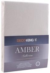 Palags ar gumiju (matračiem) DecoKing jersey Amber Cream, 140x200 cm