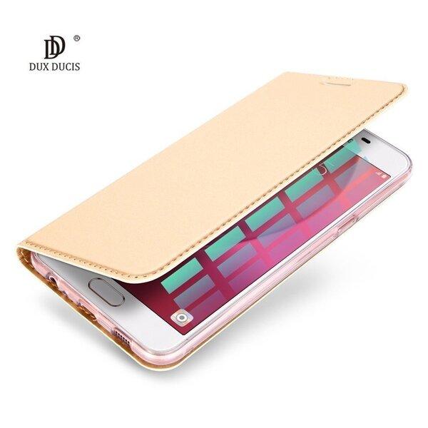 Dux Ducis Premium maciņš priekš Apple iPhone X Zeltains cena