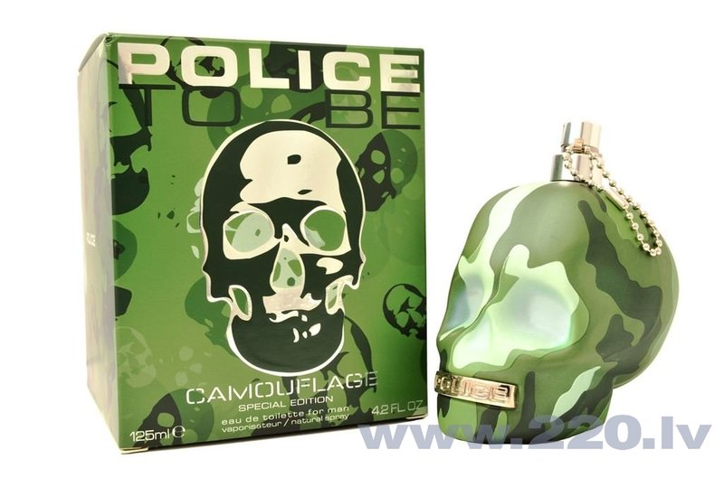 Tualetes ūdens Police To Be Camouflage edt 75 ml cena