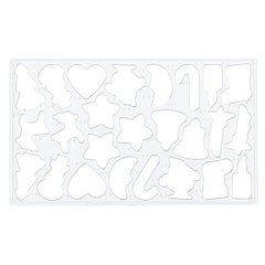 Cookie Cutter Mould cepšanas forma, 25 figūras
