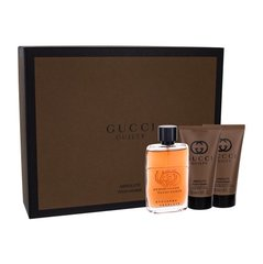 Komplekts Gucci Guilty Absolute Pour Homme: edp 50 ml + pēcskūšanas balzāms 50 ml + skūšanas putas 50 ml