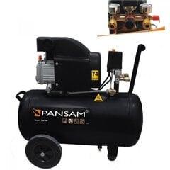 Gaisa kompresors 50 l PANSAM cena un informācija | Kompresori | 220.lv