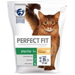 Sausā barība kaķiem PERFECT FIT, Sterile, ar vistu, 750 g cena un informācija | Sausā barība kaķiem | 220.lv