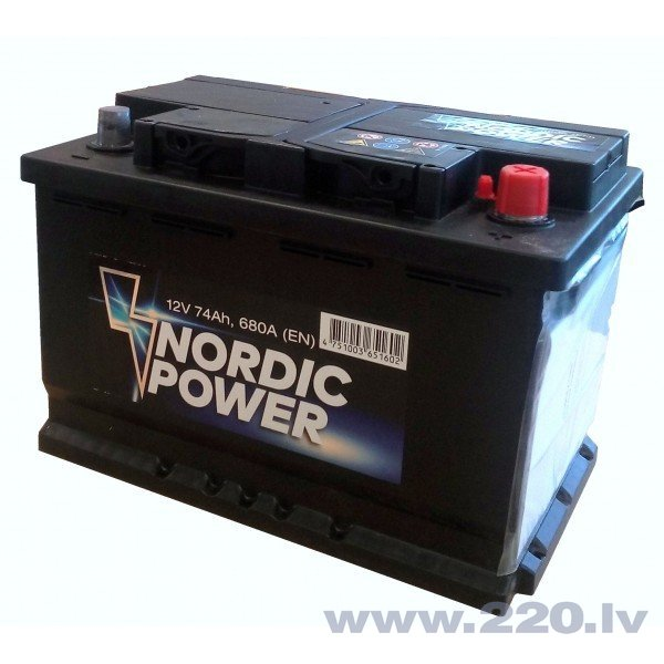 Nordic Power 74 Ah 680A 12V