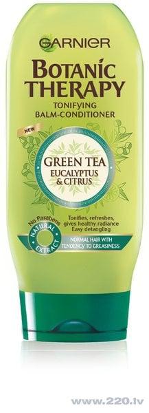 Tonizējošs balzams taukainiem matiem Garnier Botanic Therapy Green Tea & Eucalyptus 200 ml
