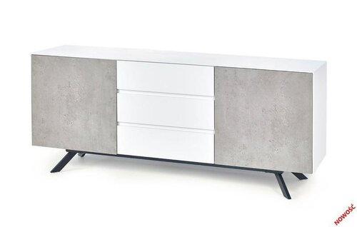 Комод Stonno Km2, белый/бетон