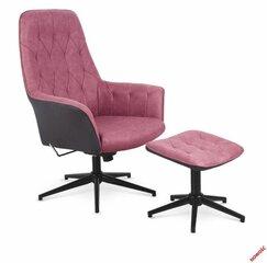 Krēsls ar kāju balstu Vagner, tumši rozā