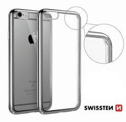 Swissten Elektro Jelly Back Case 0.5 mm maciņš priekš Apple iPhone X Caurspīdīgs - Sudrabains