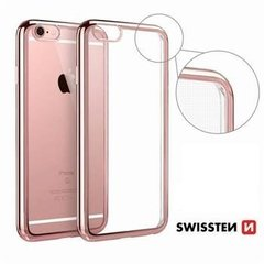 Swissten Elektro Jelly Back Case 0.5 mm maciņš priekš Apple iPhone X Caurspīdīgs - Zeltrozā