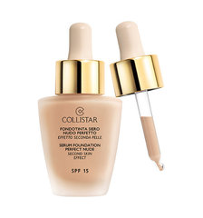 Šķidrais grima pamats Collistar SPF15 Second Skin Effect 30 ml