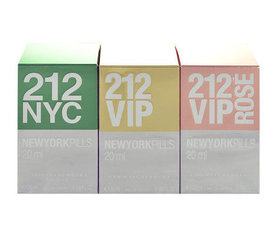 Komplekts Carolina Herrera Giftset: 20ml EDT 212 + 20ml EDP 212 Vip + 20ml EDP 212 Vip Rose