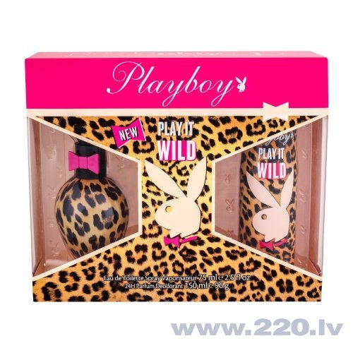 Комплект Playboy Play It Wild: edt 75 мл + дезодорант 150 мл