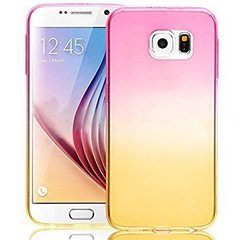 Mocco Gradient Back Case Silicone Case With gradient Color For Apple iPhone X Pink - Yellow