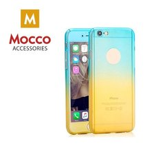 Mocco Gradient Back Case Silicone Case With gradient Color For Apple iPhone X Blue - Yellow