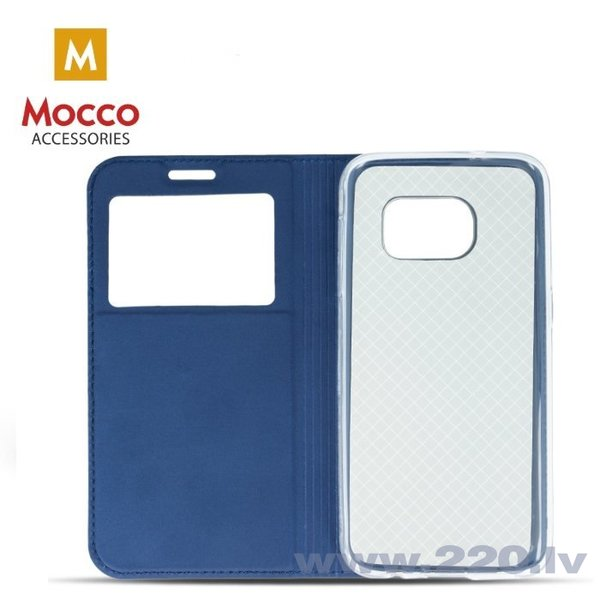 Mocco Smart Look Magnet Book Case With Window For Huawei P10 Plus Blue internetā