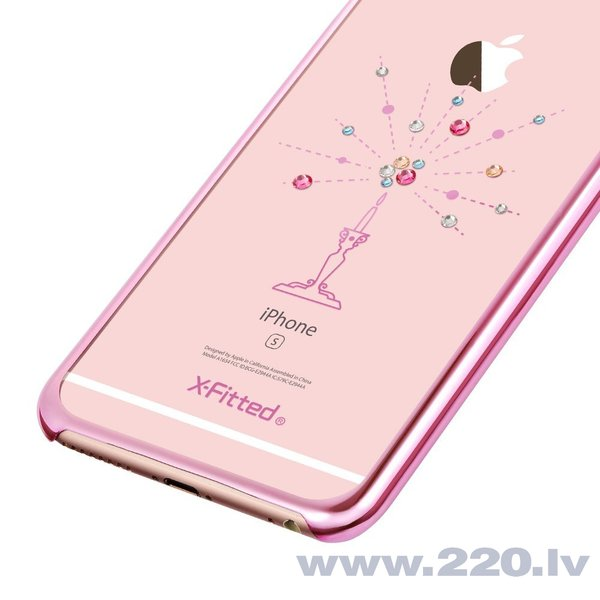 X-Fitted Plastic Case With Swarovski Crystals for Apple iPhone 6 / 6S Pink / Starry Sky cena