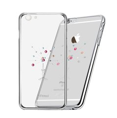 X-Fitted Plastic Case With Swarovski Crystals for Apple iPhone 6 / 6S Silver / Starry Sky