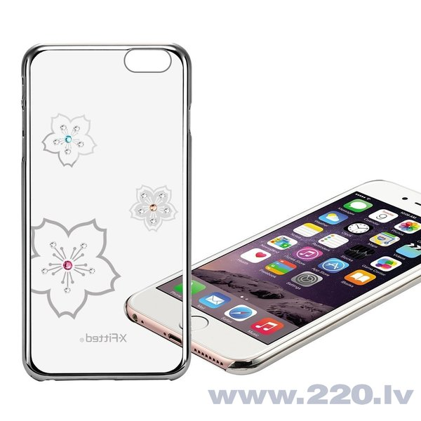 X-Fitted Plastic Case With Swarovski Crystals for Apple iPhone 6 / 6S Silver / Blossoming atsauksme