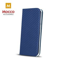 Mocco Smart Carbon Book Case For Huawei P8 Lite Blue