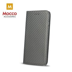 Mocco Smart Carbon Book Case For Huawei P8 Lite / P9 Lite 2017 Gray