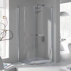 Stūra dušas kabīne Sanplast Prestige III KP2/PR III 90s, profils bahama gaiši brūns