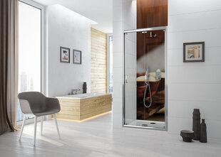 Dušas durvis nišai Sanplast TX DL/TX5b 70s, profils- pergamon, dekorēts stikls Grey