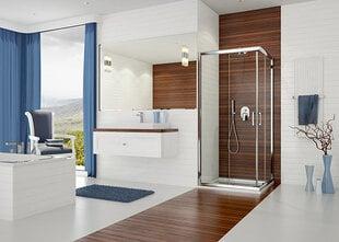 Stūra dušas kabīne Sanplast TX KN/TX5b 80x100s, balts profils, stikls Gray