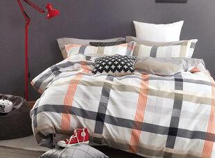 Satīna kokvilnas gultas veļas komplekts, 4 daļas