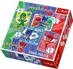 TREFL puzles komplekts PJ Masks (4 in 1)