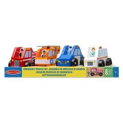 Koka mašīnas Melissa & Doug Emergency Vehicle Set