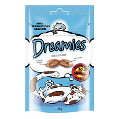 Gardumi kaķiem DREAMIES, ar lasi, 60 g cena un informācija | Gardumi kaķiem | 220.lv