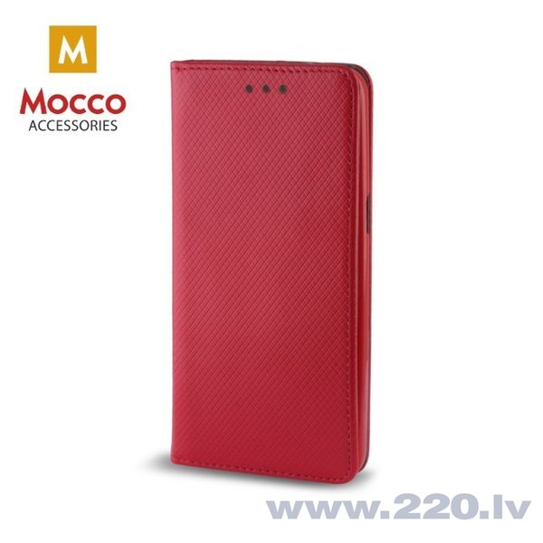 Mocco Smart Magnet Book Case For Samsung A730 Galaxy A8 Plus (2018) Red